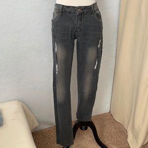 RichCow Jeans Ripped Black Fade Slim Leg Jeans